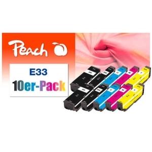 Peach  10er-Pack Tintenpatronen kompatibel zu Hersteller-ID: No. 33 Tinte
