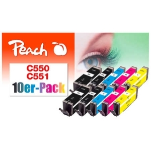 Peach  10er-Pack Tintenpatronen, kompatibel zu Hersteller-ID: PGI-550, CLI-551 Tinte