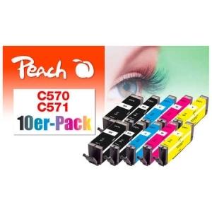 Peach  10er-Pack Tintenpatronen, kompatibel zu Hersteller-ID: PGI-570, CLI-571 Tinte