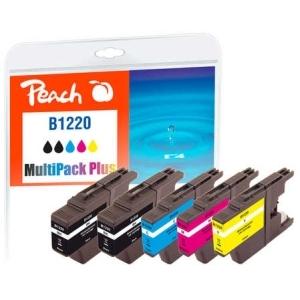 Peach  Spar Plus Pack Tintenpatronen kompatibel zu Hersteller-ID: LC-1220 Druckerpatronen