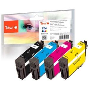 Peach  Spar Pack Tintenpatronen kompatibel zu Hersteller-ID: No. 34, T3466 Druckerpatronen