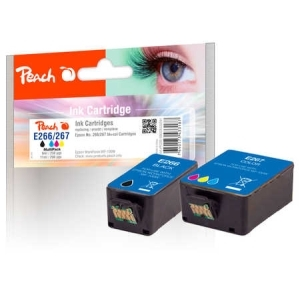 Peach  Spar Pack Tintenpatronen kompatibel zu Hersteller-ID: No. 266/267 Druckerpatronen