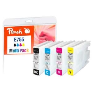 Peach  Spar Pack XL Tintenpatronen kompatibel zu Hersteller-ID: No. 755XL Druckerpatronen