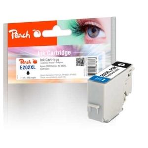 Peach  Tintenpatrone XL foto schwarz kompatibel zu Hersteller-ID: No. 202XL, T02H1 Tinte