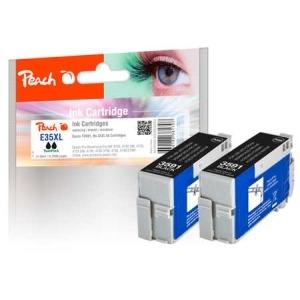 Peach  Doppelpack Tintenpatronen schwarz kompatibel zu Hersteller-ID: No. 35XL, T3591*2 Toner