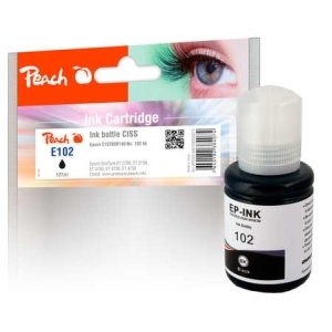 Peach  Tintenbehälter pigm. schwarz kompatible zu Hersteller-ID: C13T03R140, 102 bk Tinte