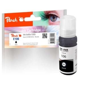 Peach  Tintenbehälter schwarz kompatible zu Hersteller-ID: C13T00R140, 106 bk Druckerpatronen