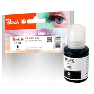 Peach  Tintenbehälter pigm. schwarz kompatible zu Hersteller-ID: C13T00Q140, 105 bk Tinte