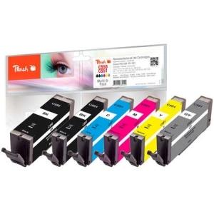 Peach  Spar Pack mit grau Tintenpatronen, kompatibel zu Hersteller-ID: PGI-550, CLI-551 Toner