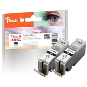 Original Peach Tintenpatrone XL schwarz kompatibel zu Toner