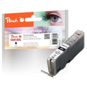 Original Peach Tintenpatrone XL foto schwarz kompatibel zu Toner