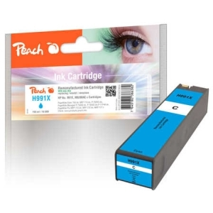 Original Peach Tintenpatrone cyan extra HC kompatibel zu Hersteller-ID: No. 991X, M0J90AE Tinte