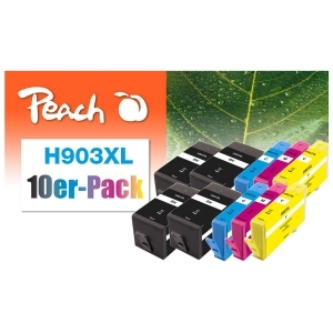 Peach  10er-Pack Tintenpatronen kompatibel zu Hersteller-ID: No. 903XL Toner