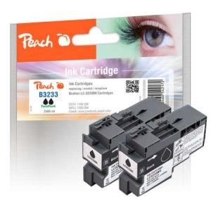 Peach  Doppelpack Tintenpatronen schwarz kompatibel zu Druckerpatronen
